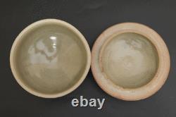 SHOJI HAMADA MONGAMA Japanese Mashiko pottery TETSUE covered pot with box
