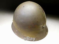 SIGNED Japanese Imperial Army Type 90 Original Combat Helmet WW2 WWII Antique