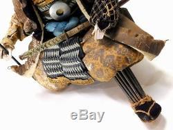 SUPERB Kato KIYOMASA Large Musha-Ningyo Samurai Doll 19thC Japan Meiji Antique
