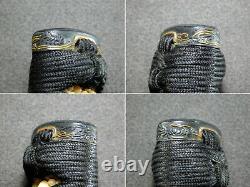SUPERB Kinko FUCHI/KASHIRA TSUKA Sword handle Japanese Original Edo Antique