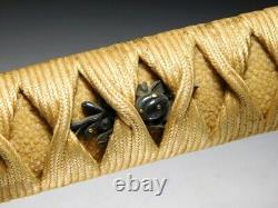 SUPERB ONI TSUBA LONG KATANA KOSHIRAE Japanese Edo Original Sword Antique