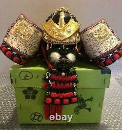 Samurai Battle suit Yoroi Kabuto armor replica small Japanese antique (19.7in)