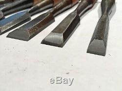 Set of 6 Japanese Tataki NomiAntique Timber Framing ChiselsWood Mortising