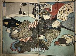 Shunga book from the Edo period. Wonderful expression of female genitals