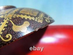 Super Rare! Old Japanese emperor TOKUGAWA Family's bowl Makie URUSHI EDO period