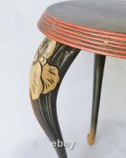 Superb Meiji-era Japanese Lacquered Carved Wooden Display Stand Antique