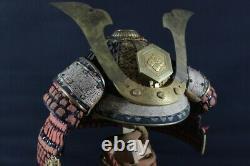 TETSU SABIJI 20 KEN 2 HOUJIRO ZABOSHI SUJI KABUTO (helmet) of YOROI (armor) EDO