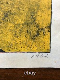 TORU MABUCHI (1920-1994), Japanese Woodblock Print, Still Life, 1962