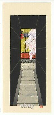 Teruhide Kato, Contemporary, Cherry Flowers, Original Japanese Woodblock Print