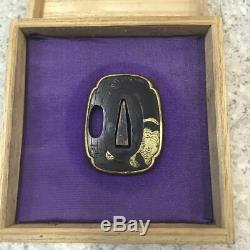 Tiger TSUBA 18-19thC Japanese Edo Original Antique Koshirae From Japan