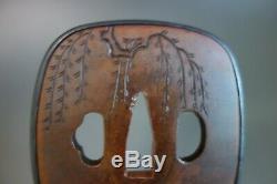 Tsuba Japan Samurai horse suaka fukurin edge cover shakudo Katana Sword fitting