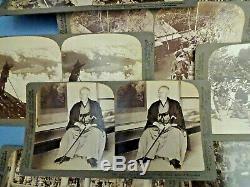 UNDERWOOD & UNDERWOOD JAPAN THROUGH THE STEREOSCOPE BOX SET VOL 1&2 c1904