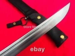 Vintage Japanese Sword Samurai Katana With Blade Signed & Sheath Full leather