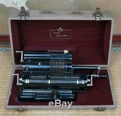 Vintage Japanese mechanical calculator made in Japan 1930 original craft