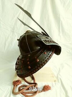Vintage Japanese samurai armor helmet (kabuto)+face mask(menpo)