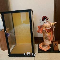 Vintage japanese doll kimono Geisha beautiful Figure Kyoto antique 41cm 16.1