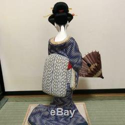 Vintage japanese doll kimono Geisha beautiful Figure Kyoto antique Japan 34.0cm