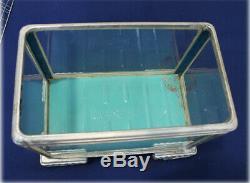 Vintage small Fish tank Japanese Mini Aquarium Terrarium Metal Frame/Glass/Wire