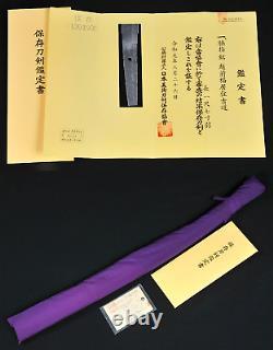 Wakizashi (Echizen Fukui ju Yoshimichi) First Edo period (1624) NBTHK