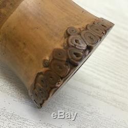 Y1131 SHAKUHACHI 54.5cm Bamboo Flute signed Japanese Traditional vintage antique