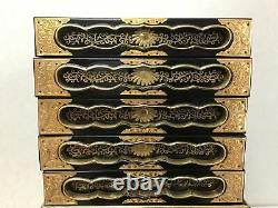 Y1925 TANSU Makie Lacquer Chest of Drawers sutra box storage Japanese antique
