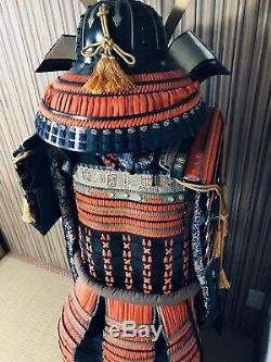 YOROI SET Japan Samurai Busho Armor Kabuto Menpo Dou Sode Kote Haidate Suneate