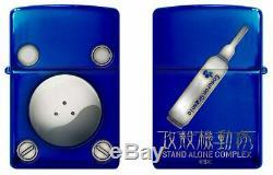 Zippo Oil Lighter GHOST IN THE SHELL Tachikoma Titanium Blue Anime Japan F/S