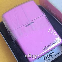 Zippo Oil Lighter Tokimeki Memorial SHIORI FUJISAKI Pink Original Box Japan